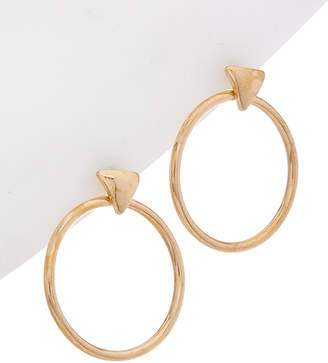 Flint & Mortar Circular 14K Plated Set Of 2 Drop Earrings