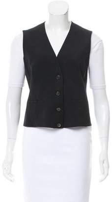 Akris Satin Panel Wool Vest
