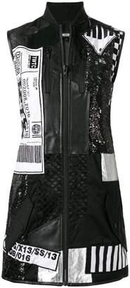 Kokon To Zai patchwork bomber dress