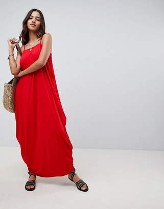 Asos DESIGN tab back drape hareem maxi dress