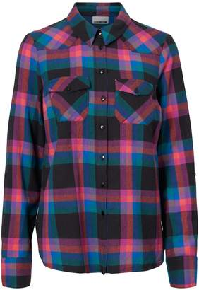 Noisy May Erik Plaid Button-Down Shirt