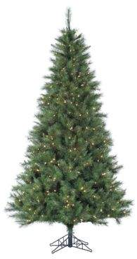 Fraser Hill Farms Pre-Lit Canyon Pine Artificial Christmas Tree - White - 10 Ft.