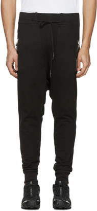 11 by Boris Bidjan Saberi Black Drawstring Lounge Pants $505 thestylecure.com