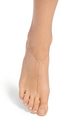 Women's Nadri 'Salome' Bezel Cubic Zirconia Foot Chain $50 thestylecure.com