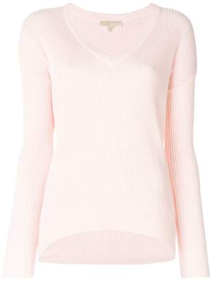 MICHAEL Michael Kors V-neck knit detail sweater