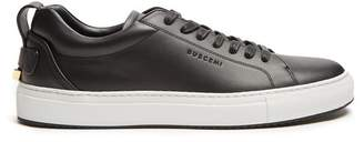 Buscemi Lyndon Low Top Leather Trainers - Mens - Black