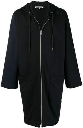 McQ long zipped hoodie