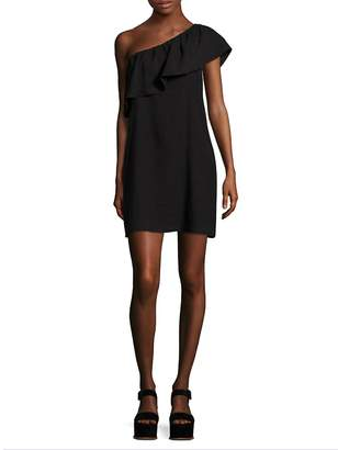 7 For All Mankind Women's Ruffled One-Shoulder Dress