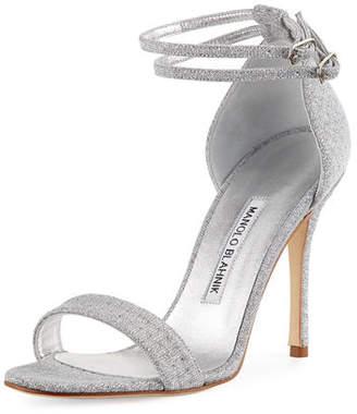 Manolo Blahnik Willis Metallic Sandal