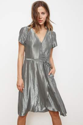 Velvet by Graham & Spencer CALINA LAME WRAP DRESS