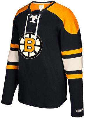 Ccm Men's Boston Bruins Laces Crew Shirt
