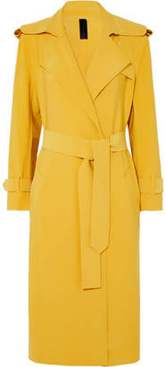 Norma Kamali Belted Cady Trench Coat - Yellow