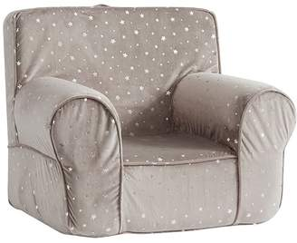 Pottery Barn Kids My First Taupe Chamois Metallic Star Anywhere Chair®