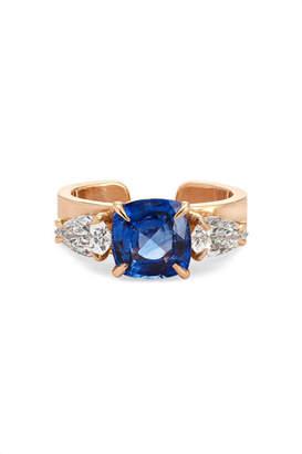Anita Ko 18-karat Rose Gold, Sapphire And Diamond Ear Cuff