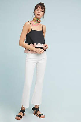 MiH Jeans Lou High-Rise Cropped Flare Jeans