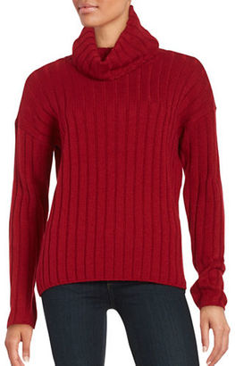 Lord & Taylor Merino Wool Ribbed Turtleneck Sweater $108 thestylecure.com