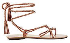 Rhinestone Studded Blush Suede Sandals
