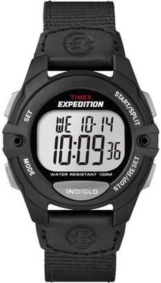 Timex Men's Expedition Digital CAT Full-Size Watch, Black Nylon Strap