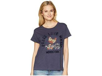 Lucky Brand Embroidered Woodstock Tee Women's T Shirt