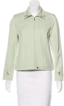 St. John Sport Embellished Long Sleeve Jacket