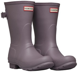 Hunter Womens Back Adjustable Short Wellington Boots Thundercloud