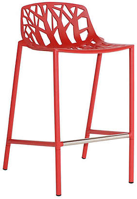 Janus et Cie Forest Low-Back Counter Stool - Red