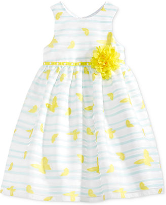 Marmellata Butterfly-Print Striped Dress, Toddler & Little Girls (2T-6X) $74 thestylecure.com