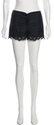 Anna Sui Lace Mini Shorts