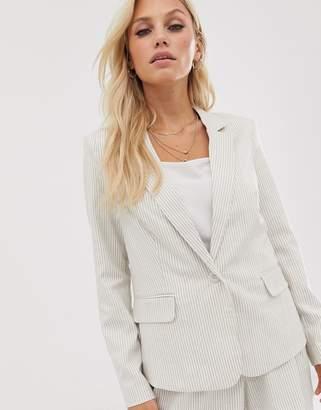 Vero Moda stripe linen blazer