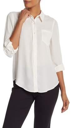 Nanette Lepore NANETTE Crepe Chiffon Button Down Shirt