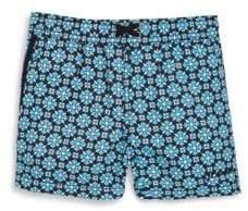 Little Boy's Mosaic-Print Swim Shorts