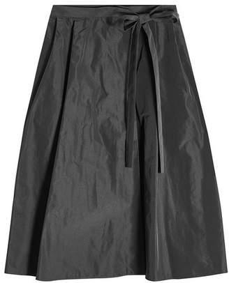 Jil Sander Navy Taffeta Skirt