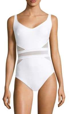 Miraclesuit Swim Illusionists It's a Cinch Sheer-Panel Swimsuit