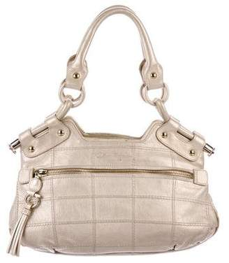 Salvatore Ferragamo Metallic Leather Satchel