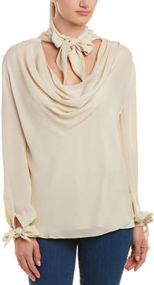 Haute Hippie Ladies And Gents Silk Blouse