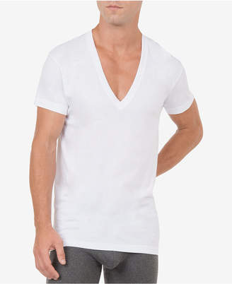 2xist Men's Slim-Fit Deep V-Neck 3 Pack Undershirt