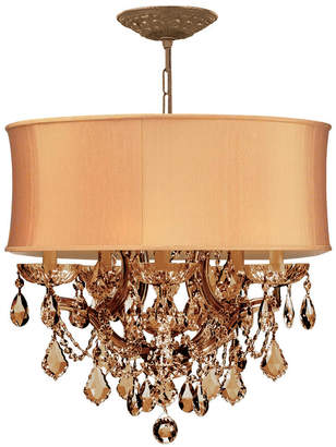 Crystorama Antique Brass Brentwood 6 Light