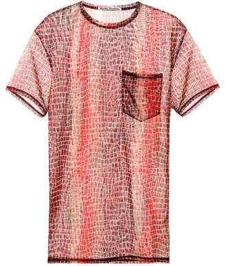 Acne Studios Batumy printed mesh T-shirt