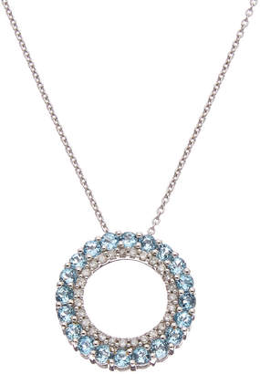 Effy Fine Jewelry 14K 1.14 Ct. Tw. Diamond & Blue Topatz Necklace