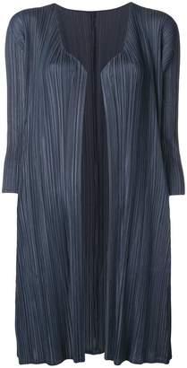 Pleats Please Issey Miyake three-quarter sleeve cardigan