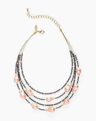 Chico's Chicos Blush Stone Illusion Necklace