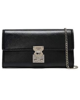 1dc8abc33 GUESS Lynda Pebbled Diamante Clutch Bag