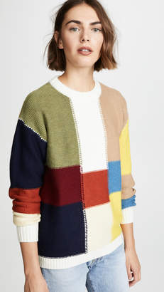 See by Chloe Block Color Sweater