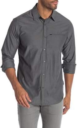 Hawke & Co Mixed Media Long Sleeve Motion Fit Shirt