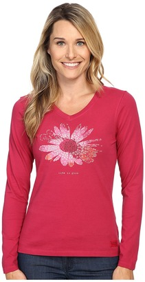 Life is Good® Flower Long Sleeve Crusher Vee $30 thestylecure.com