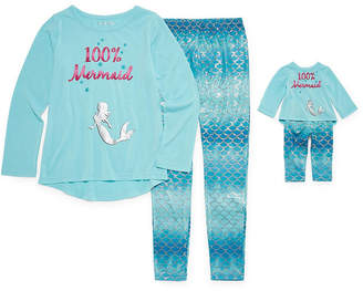 Asstd National Brand For Me and My Dream Doll 2pc Mermaid Pant Pajama Set - Girl