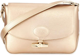 Longchamp Roseau Metallic Leather Crossbody Bag