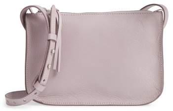 Madewell The Simple Leather Crossbody Bag - Purple