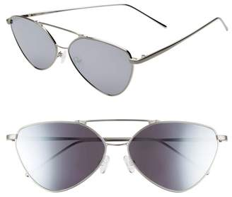 Nordstrom Something Navy 62mm Wire Cat Eye Sunglasses Exclusive)