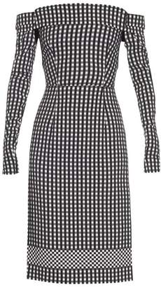 Preen by Thornton Bregazzi Olivia Off The Shoulder Gingham Dress - Womens - Black White